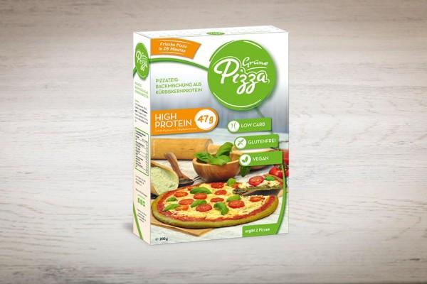 Grüne Pizza Backmischung